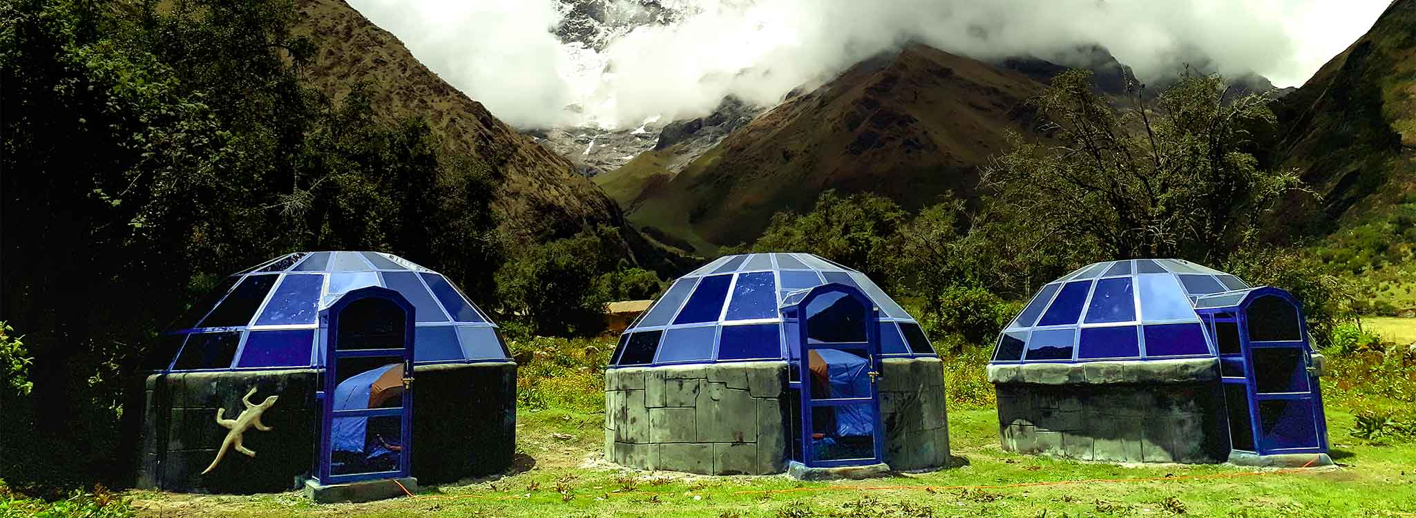 The sacred Salkantay trek in 5 days with sky domes