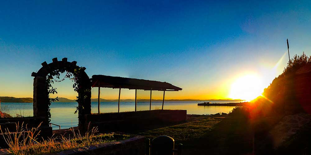 Sunset in Llachon, Titicaca Lake